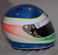 Casco fluorescente