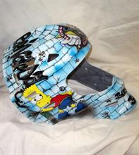 Aerografia casco hockey